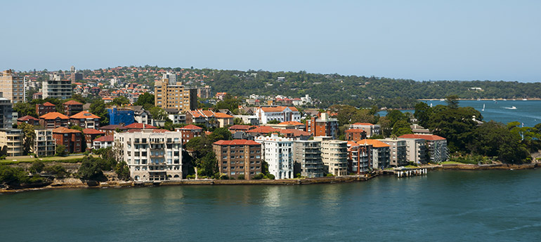 North Sydney water view