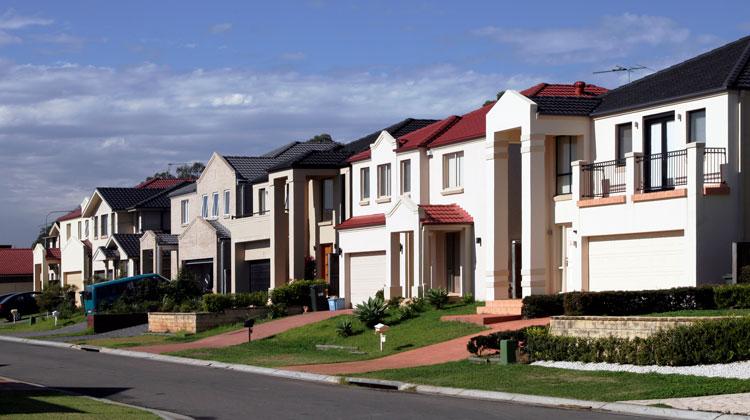 Street view of blue chip properties