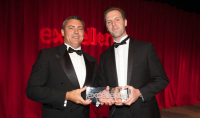 Nick Viner awarded Sydney's 'Best Buyer's Agent' at the 2012 Real Estate Institute annual Gala Dinner.